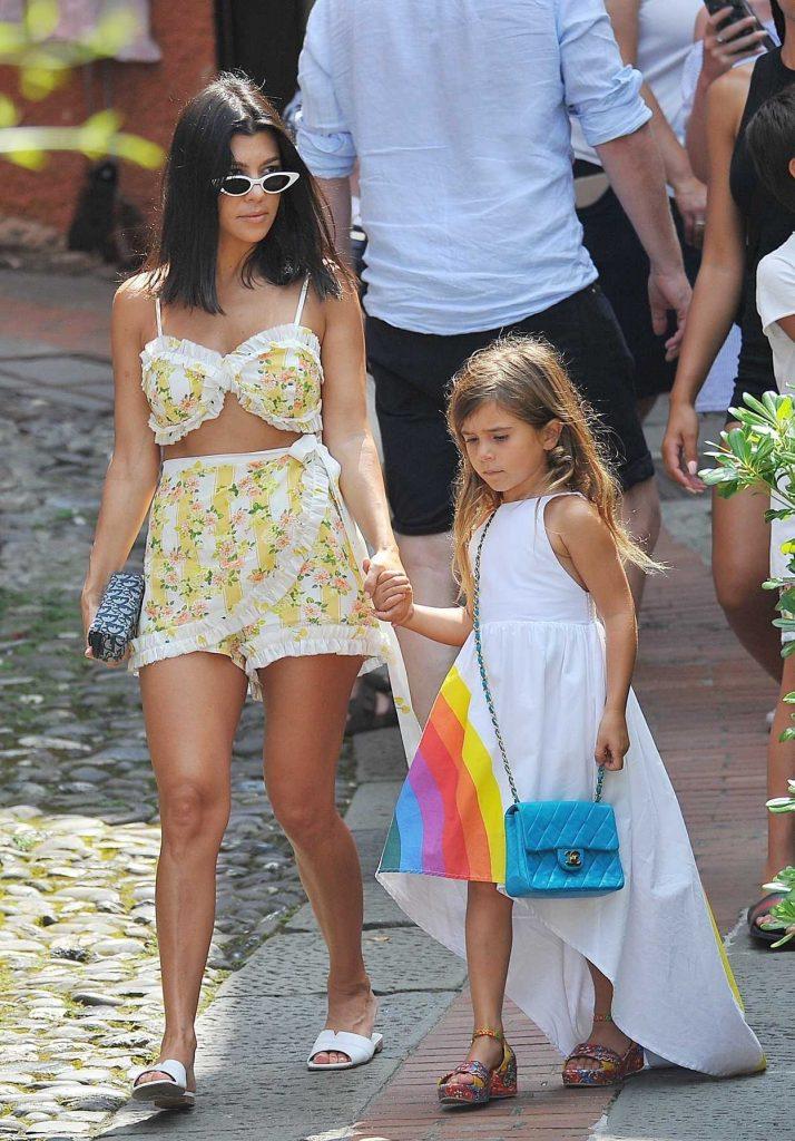 Kourtney Kardashian Was Seen Out with Her Children in Portofino 07/05/2018-1
