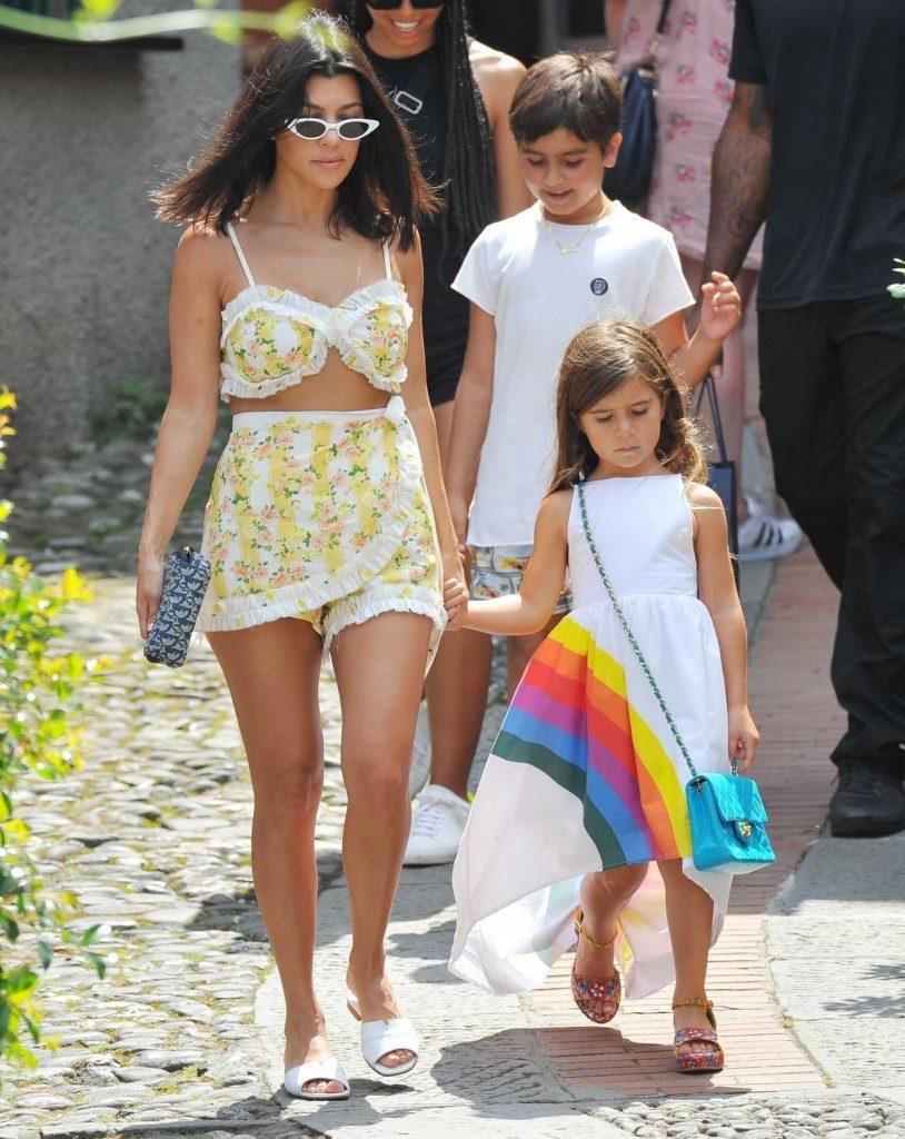 Kourtney Kardashian Was Seen Out with Her Children in Portofino 07/05/2018-2