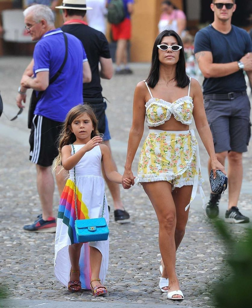 Kourtney Kardashian Was Seen Out with Her Children in Portofino 07/05/2018-3