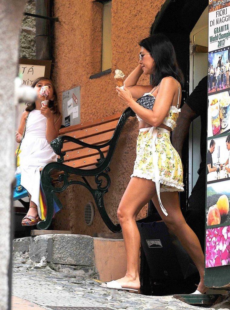 Kourtney Kardashian Was Seen Out with Her Children in Portofino 07/05/2018-5