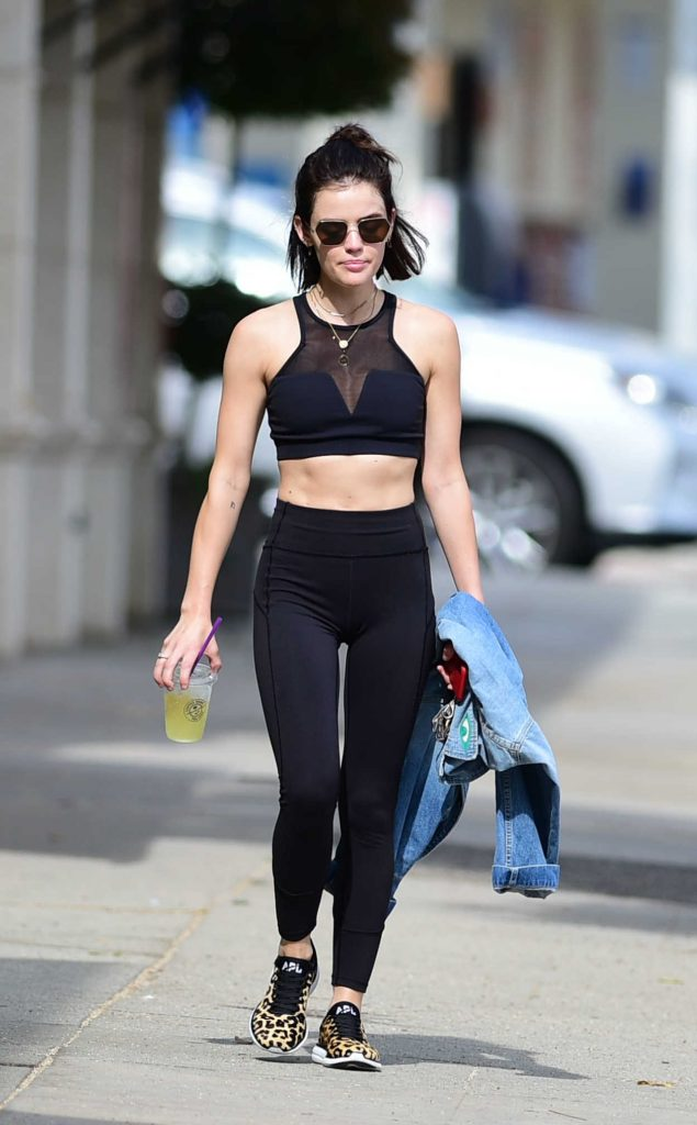 Lucy Hale Leaves Her Workout in LA 07/09/2018-1