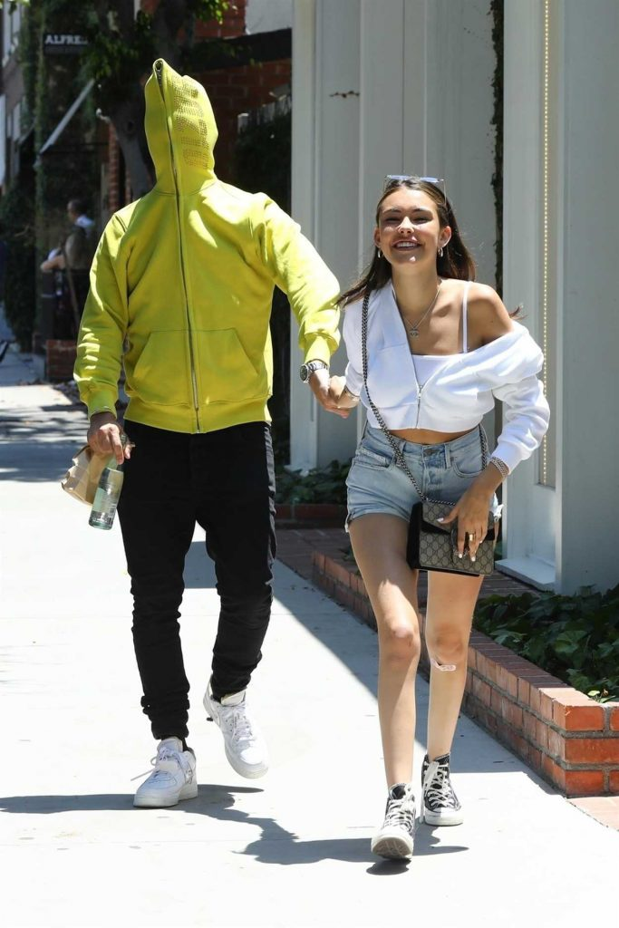Madison Beer with Her Boyfriend Zack Bia Leaves Alfred Coffee in Los Angeles 07/03/2018-4
