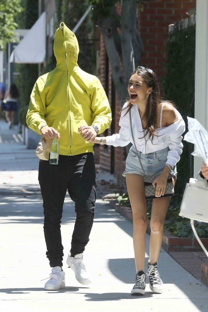 Madison Beer with Her Boyfriend Zack Bia Leaves Alfred Coffee in Los Angeles 07/03/2018-5