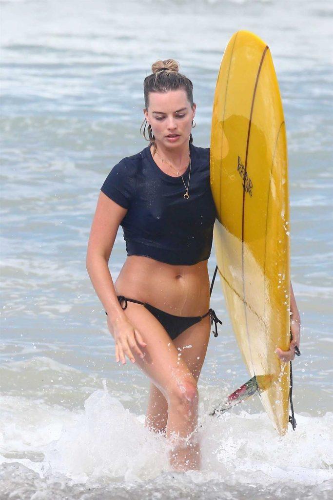 Margot Robbie in Bikini on the Beach in Costa Rica 07/20/2018-1