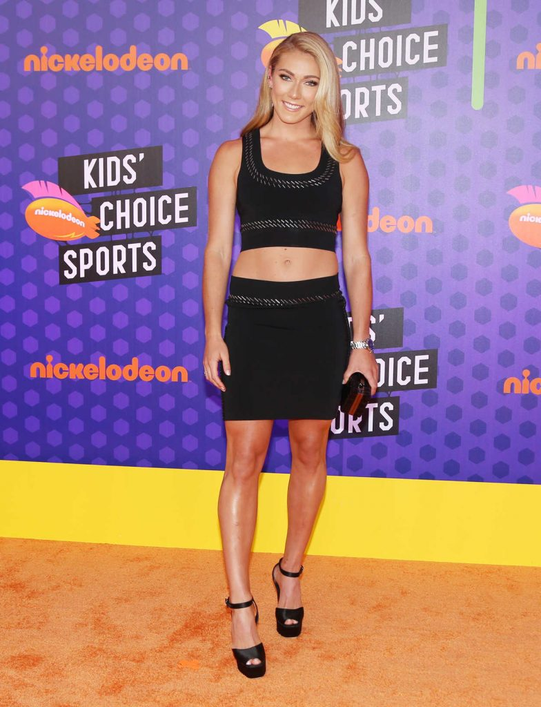 Mikaela Shiffrin at Nickelodeon Kids' Choice Sports Awards in Santa Monica 07/19/2018-2