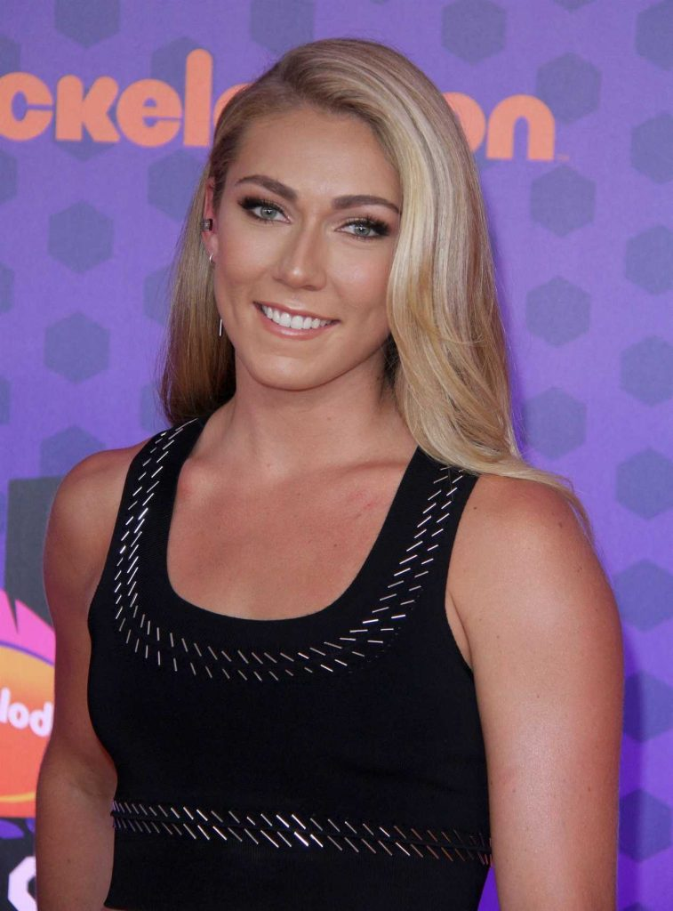 Mikaela Shiffrin at Nickelodeon Kids' Choice Sports Awards in Santa Monica 07/19/2018-5