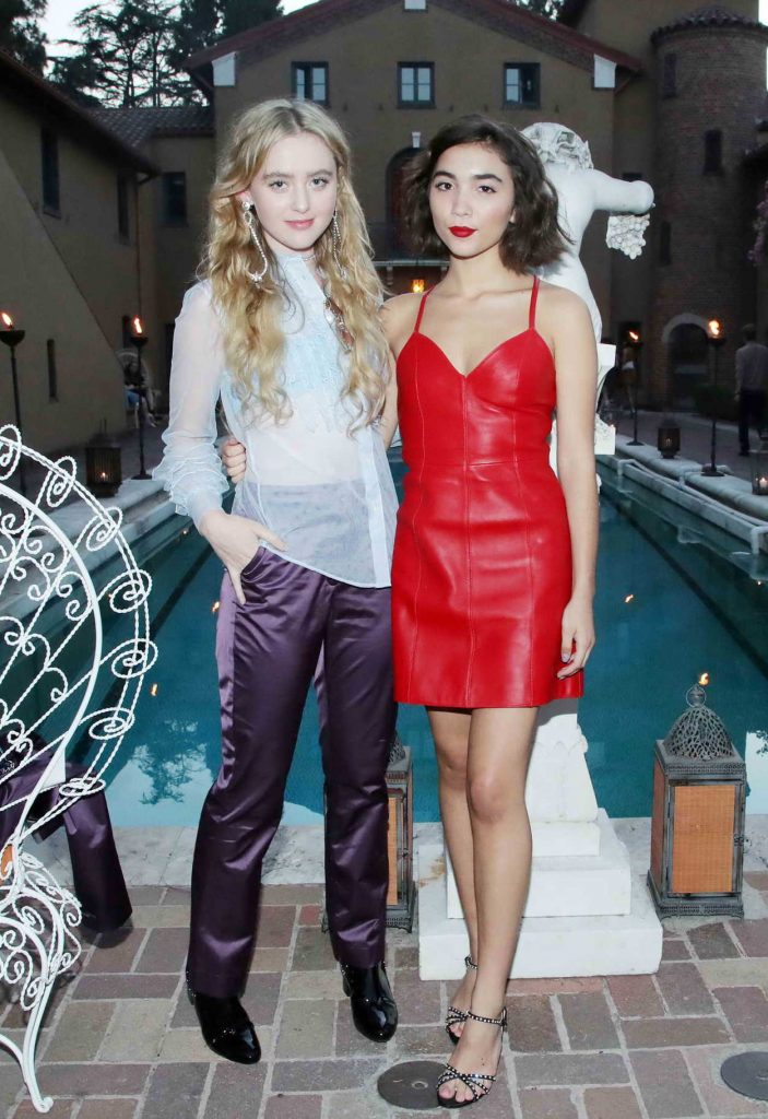 Rowan Blanchard In A Short Red Leather Dress At The Muse