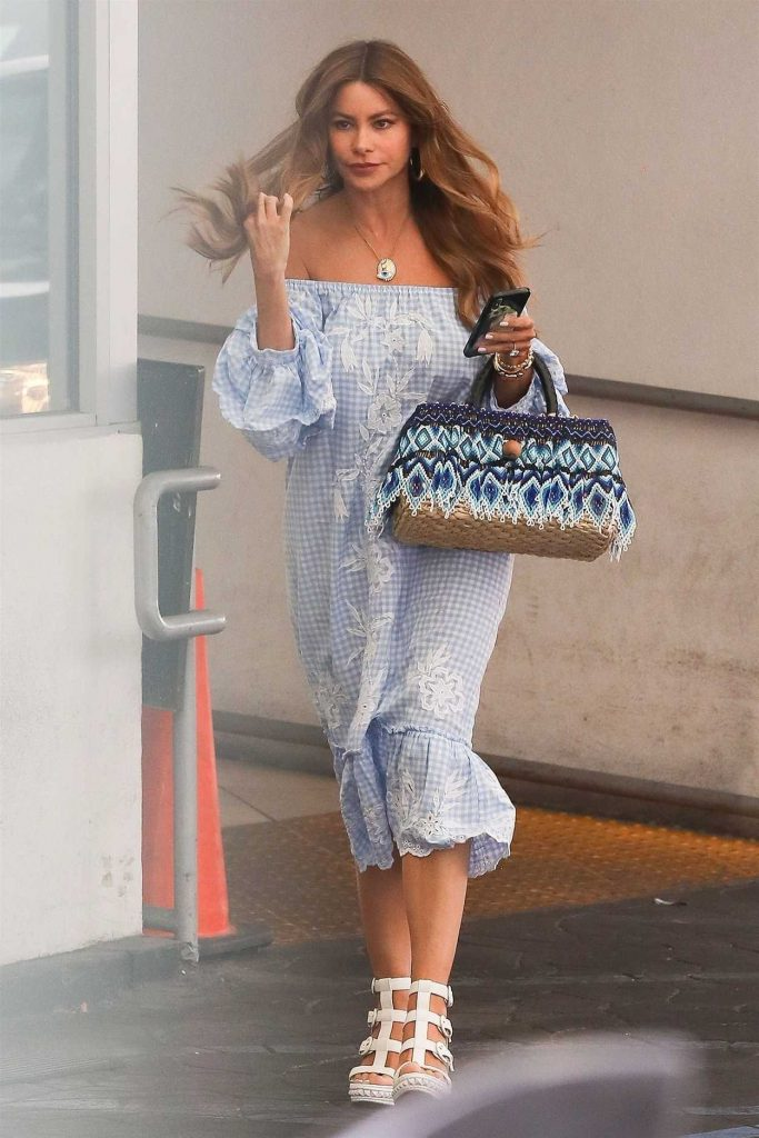 Sofia Vergara Arrives at the Lancer Skin Care Clinic in Beverly Hills 07/11/2018-1
