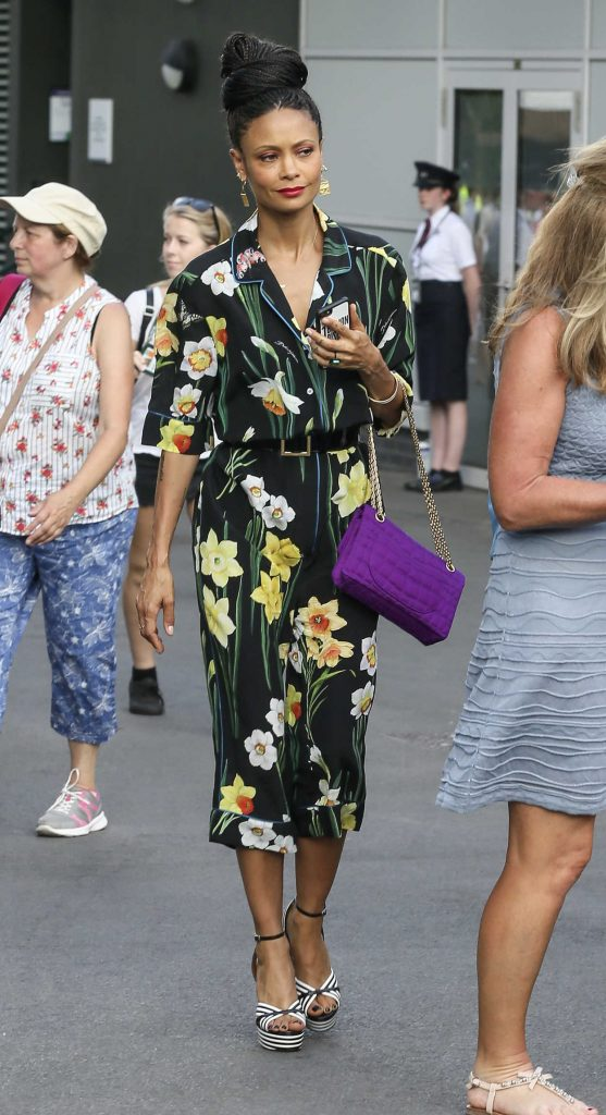 Thandie Newton Was Seen on the Way to Wimbledon in London 07/14/2018-1