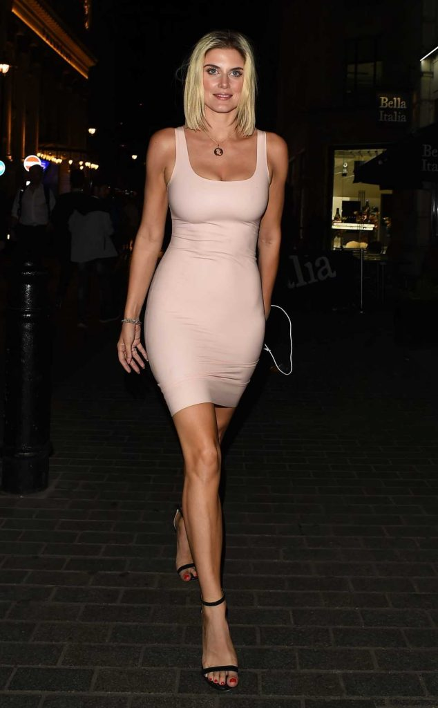 Ashley James in a Sexy Pink Dress