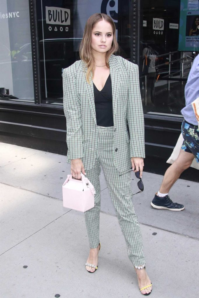 Debby Ryan in a Plaid Suit