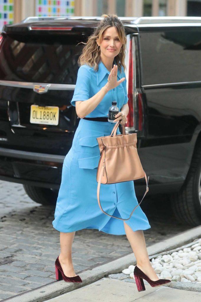 Rose Byrne in a Blue Dress