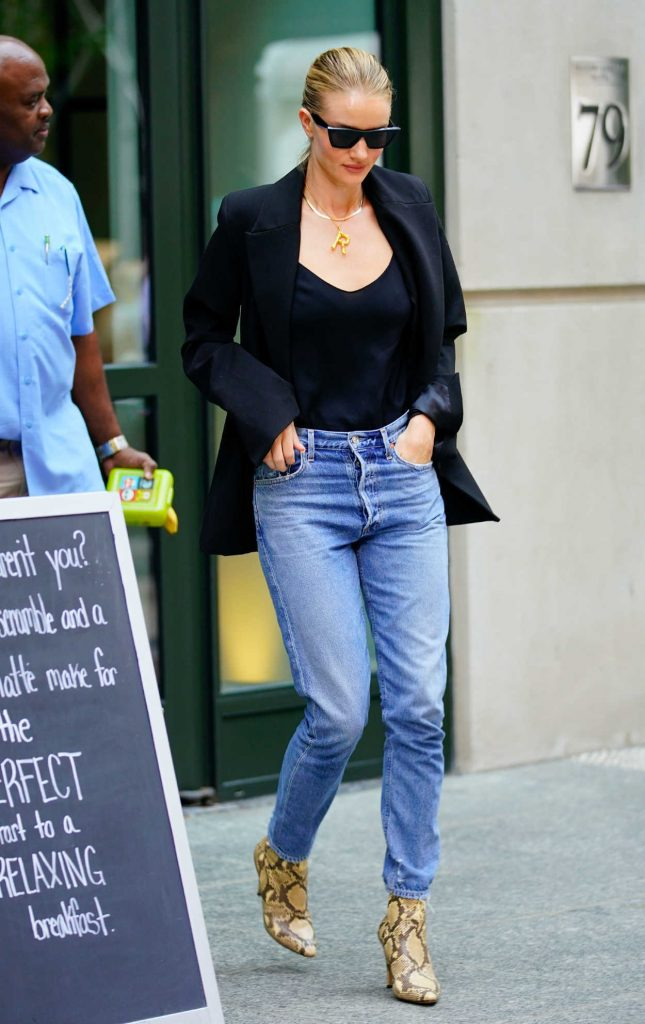 Rosie Huntington-Whiteley in a Black Jacket