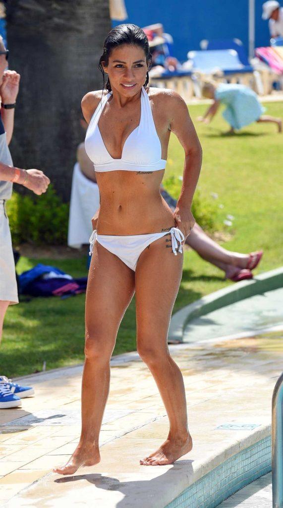 Roxanne Pallett in a White Bikini