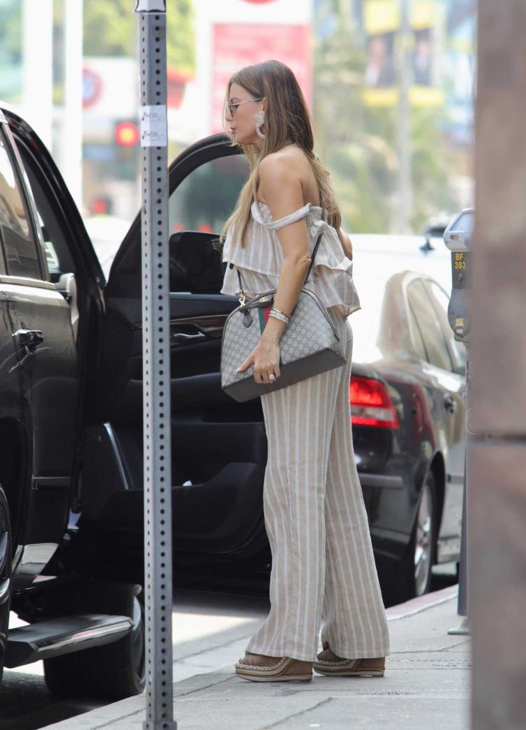 Sofia Vergara in a Stripped Pants