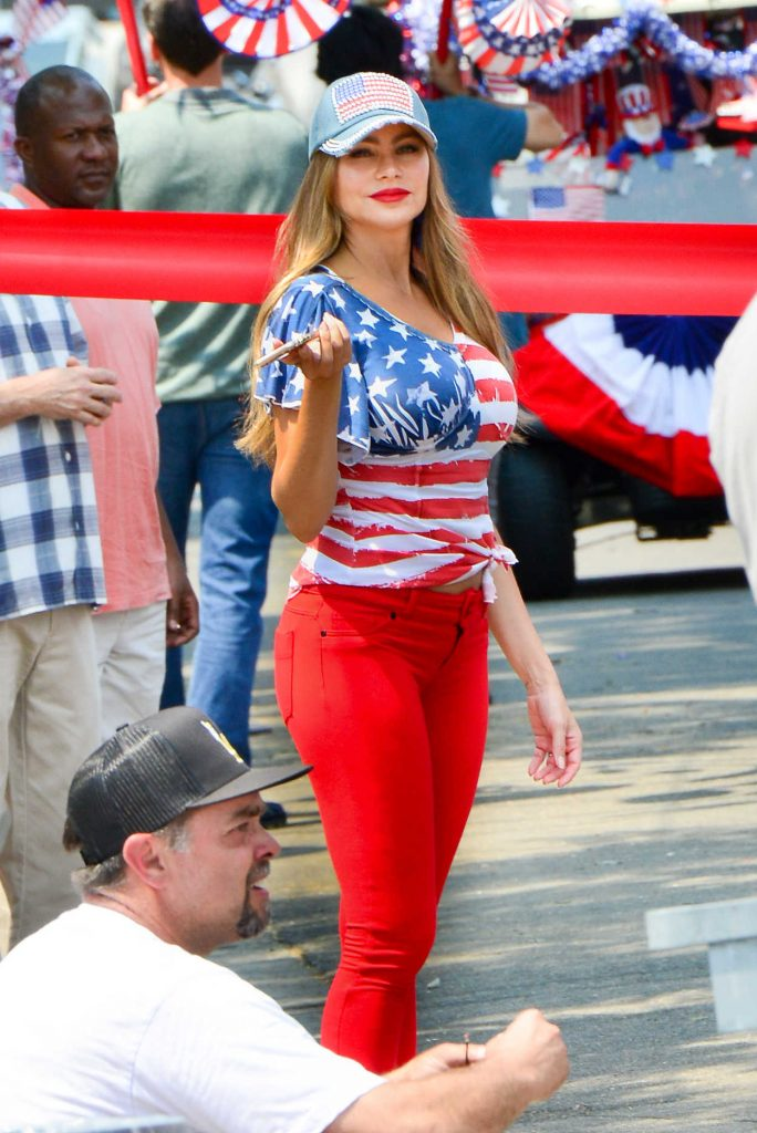 Sofia Vergara in the Patriotic Blouse