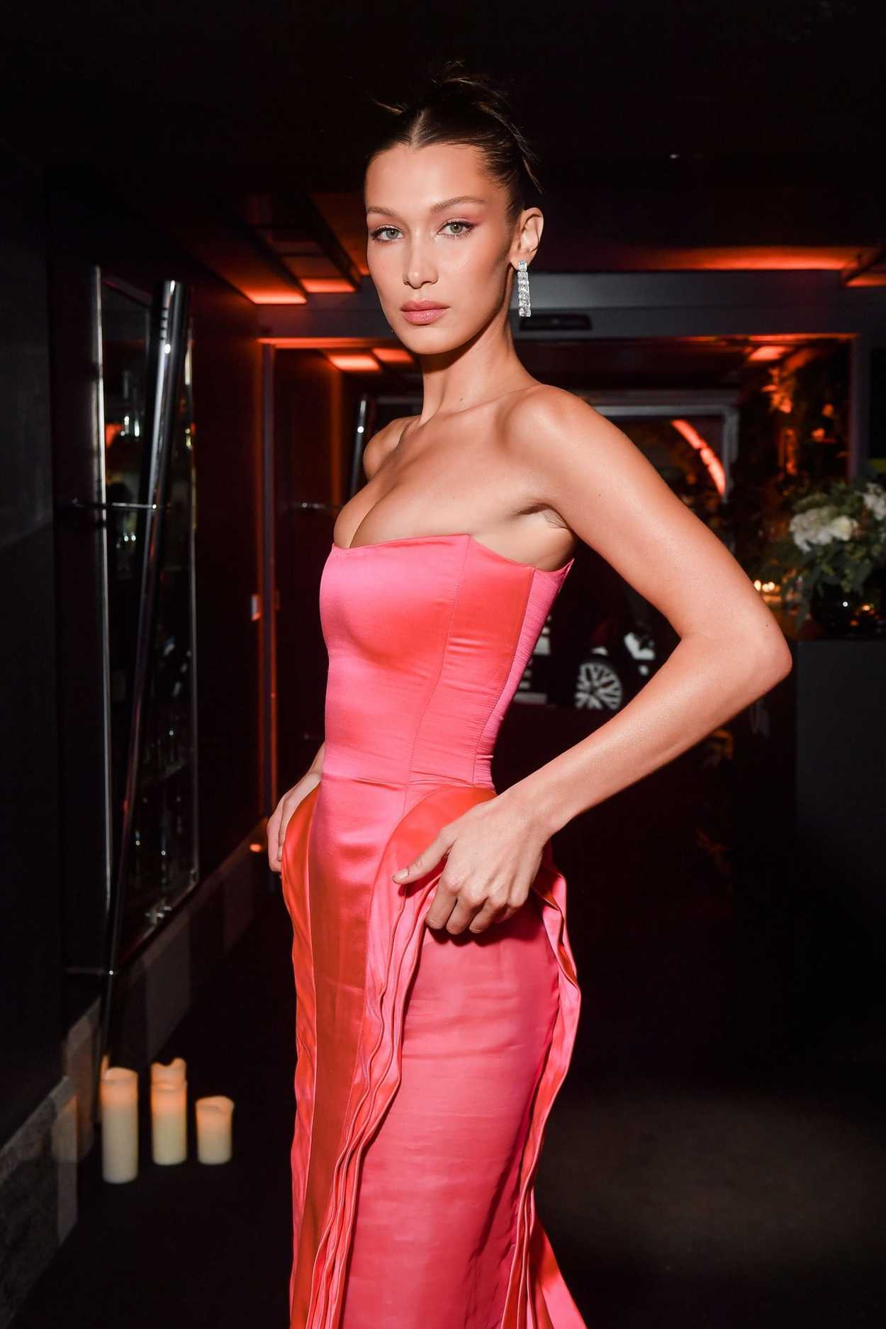 Bella Hadid attends the Naked Heart France Gala Dinner as