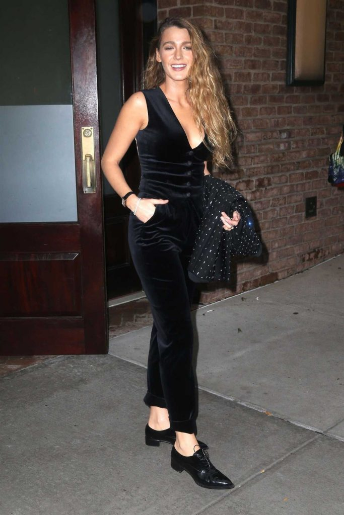 Blake Lively in a Black Outfit
