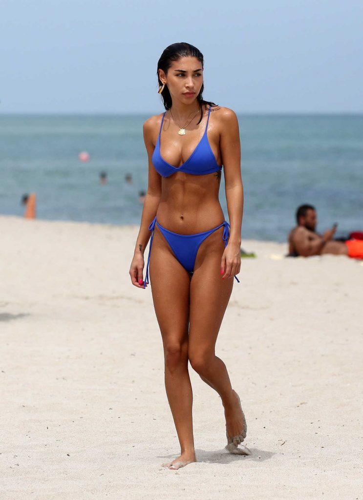 Chantel Jeffries In A Blue Bikini On The Beach In Miami 09