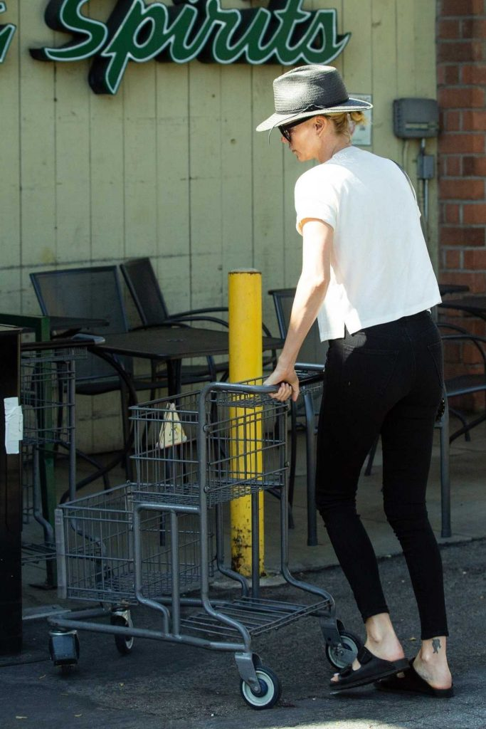 Charlize Theron in a Gray Hat