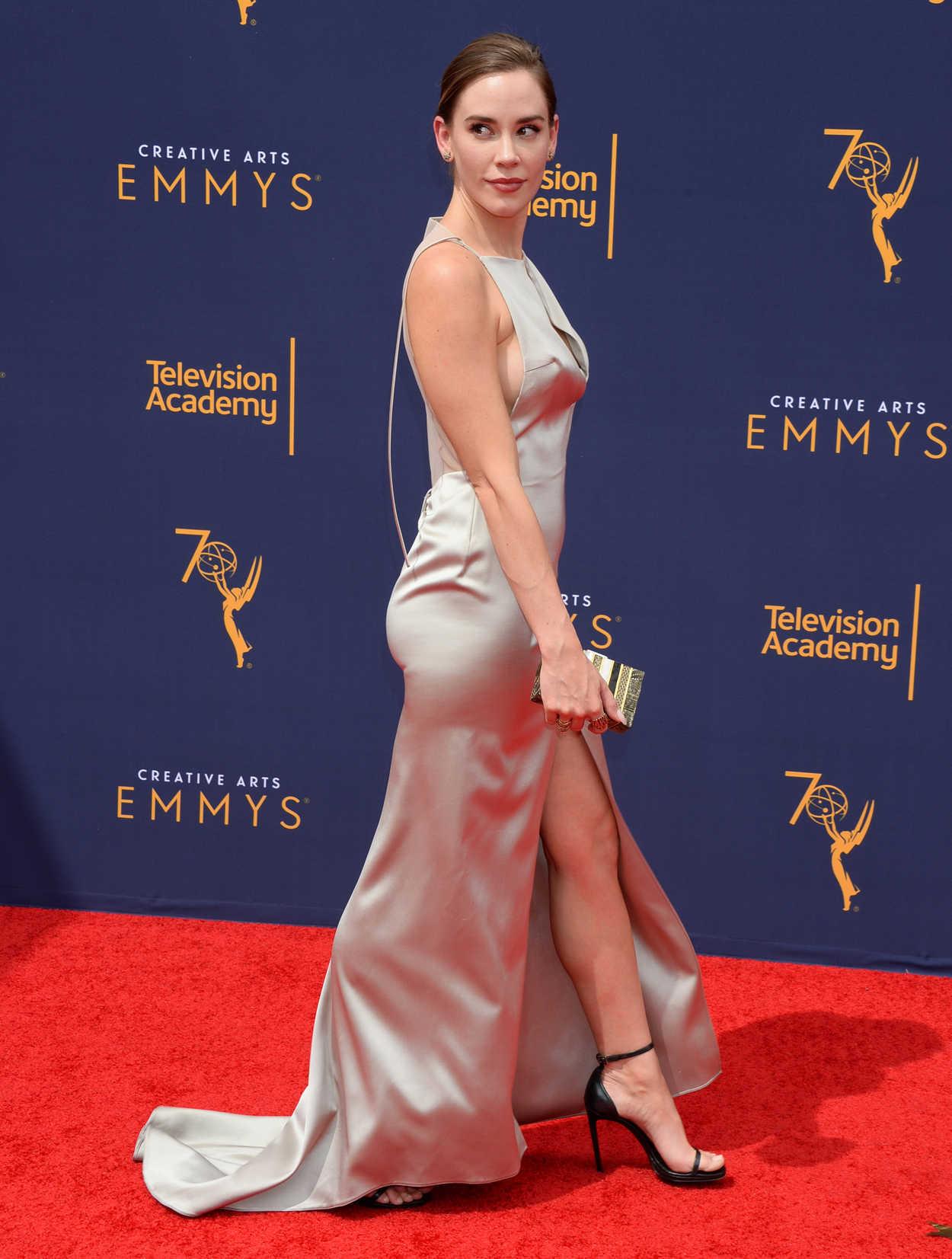 Christa B Allen At The 70th Primetime Creative Arts Emmy