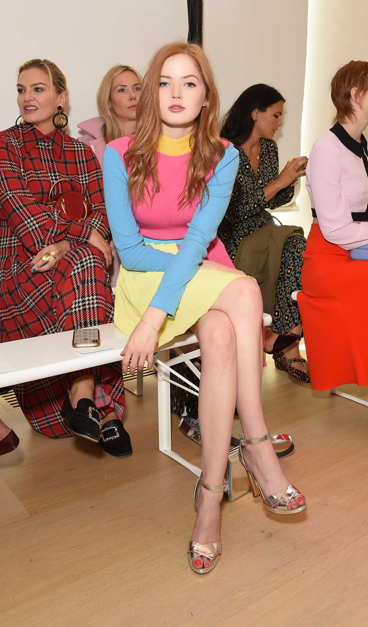 Ellie Bamber Attends The Emilia Wickstead Show During