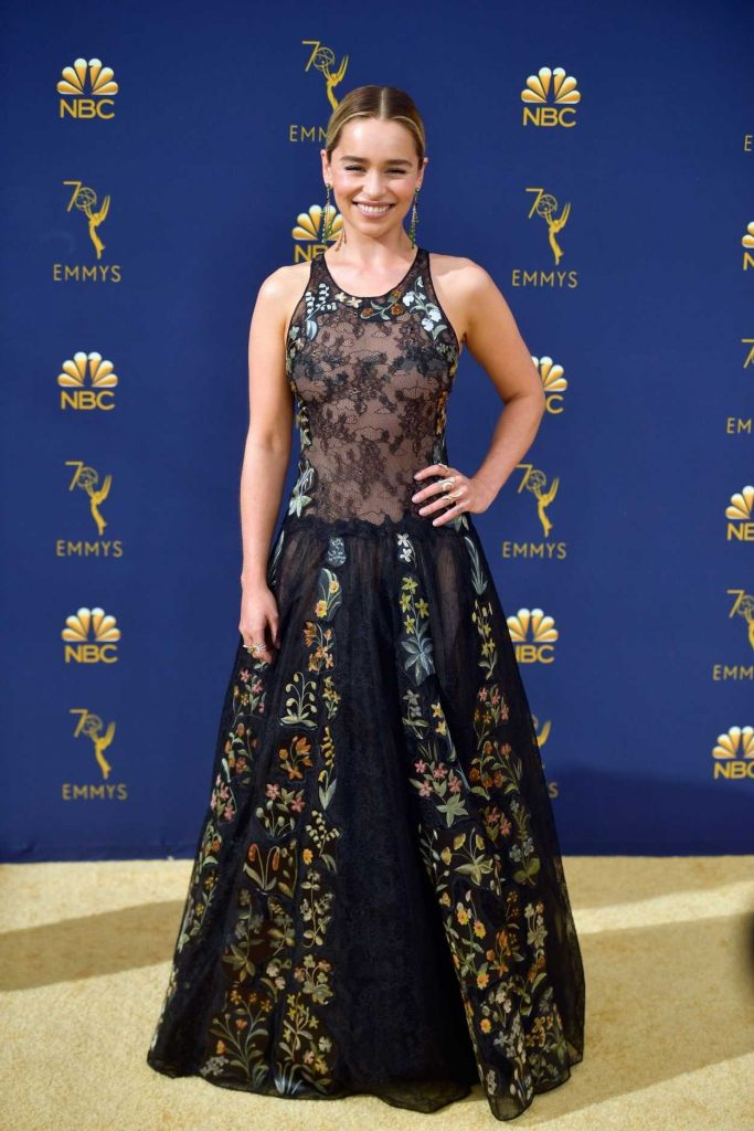 Emilia Clarke At The 70th Primetime Emmy Awards In La 09