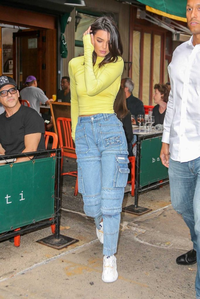 Kendall Jenner in a Yellow Turtleneck