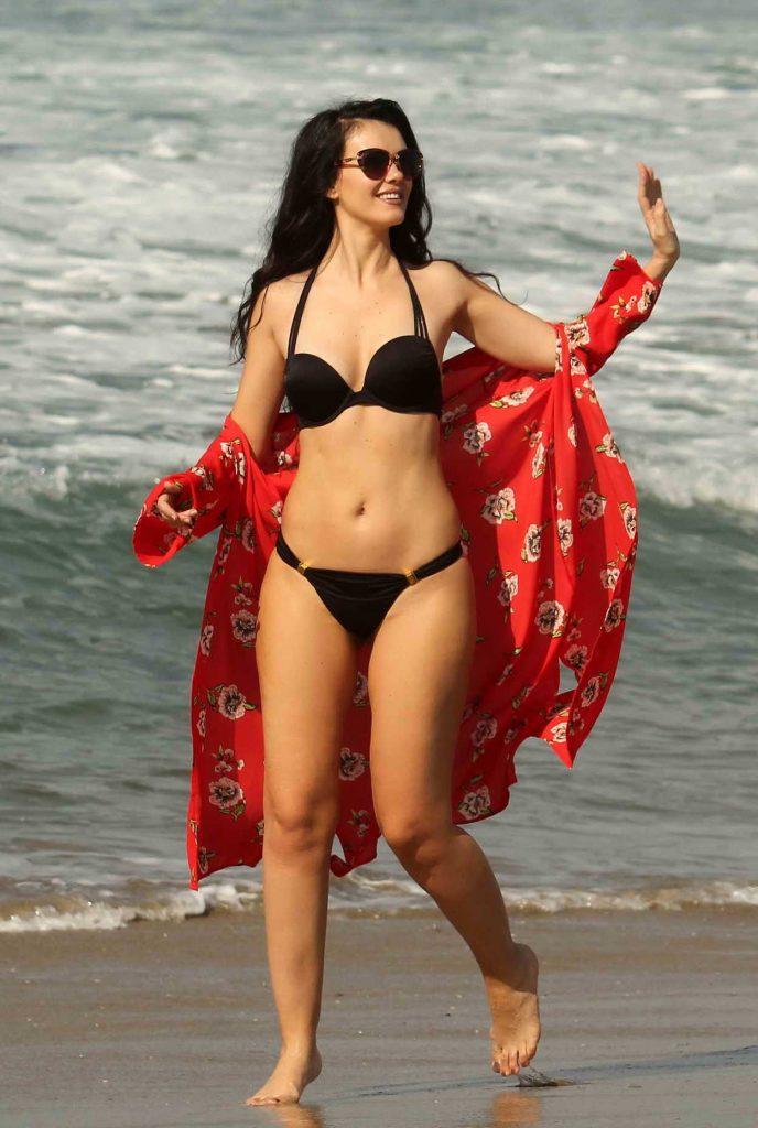 Natasha Blasick in a Black Bikini