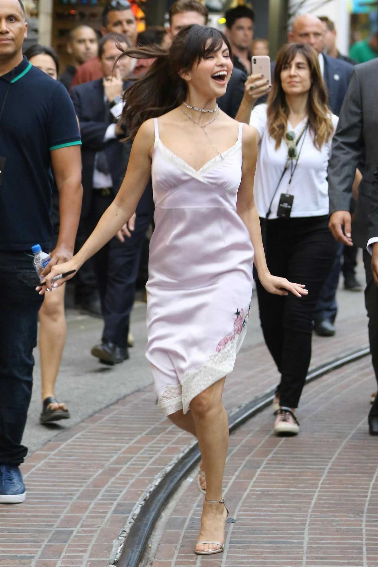 Selena Gomez in a Pink Sundress Was Seen Out in Los ...
