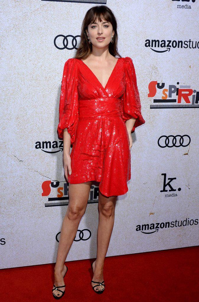 Dakota Johnson in a Red Dress