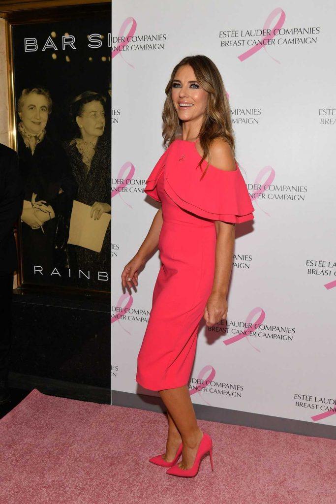 Elizabeth Hurley Attends 2018 Estee Lauder Breast Cancer ...