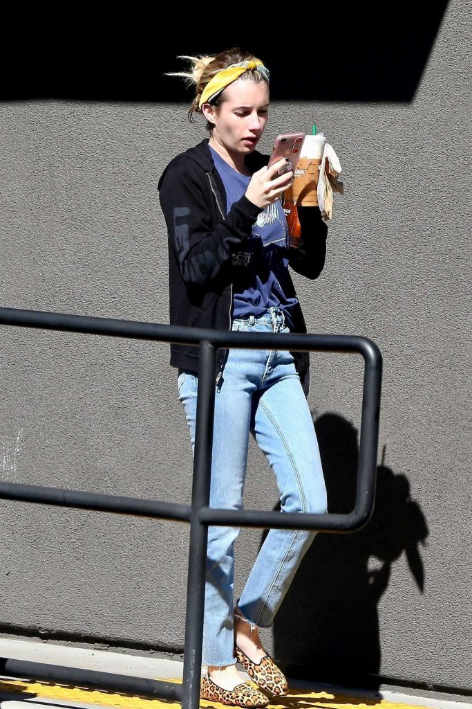 Emma Roberts in an Animal Print Pumps
