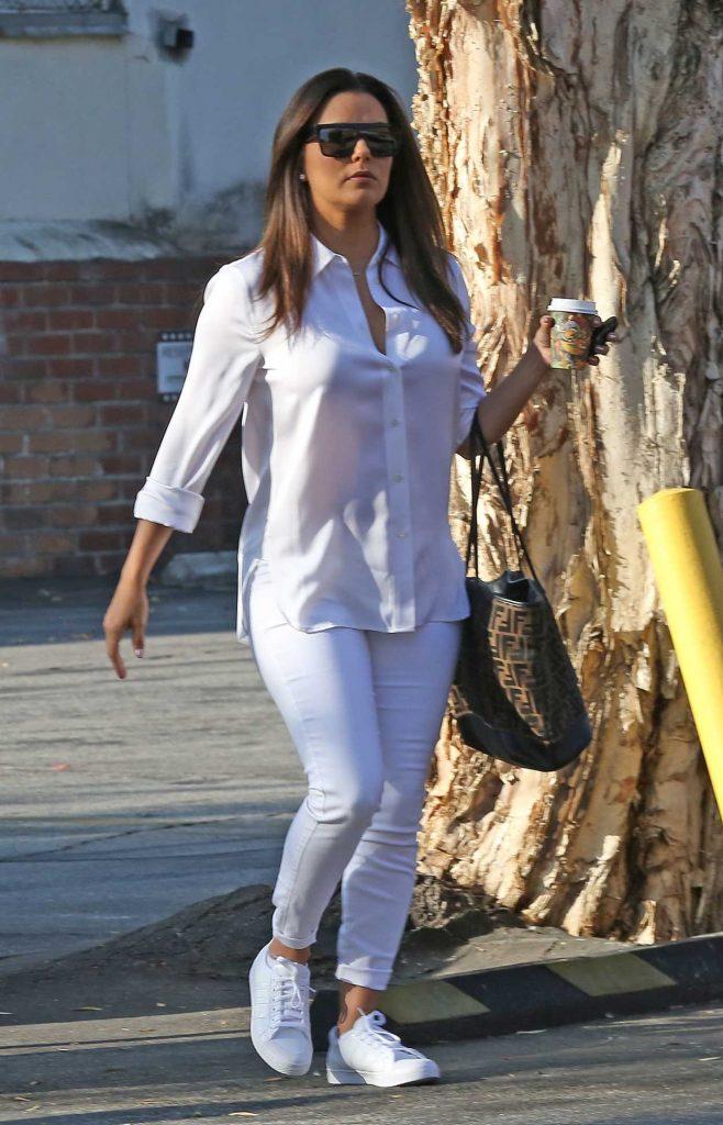Eva Longoria in All-White Outfit