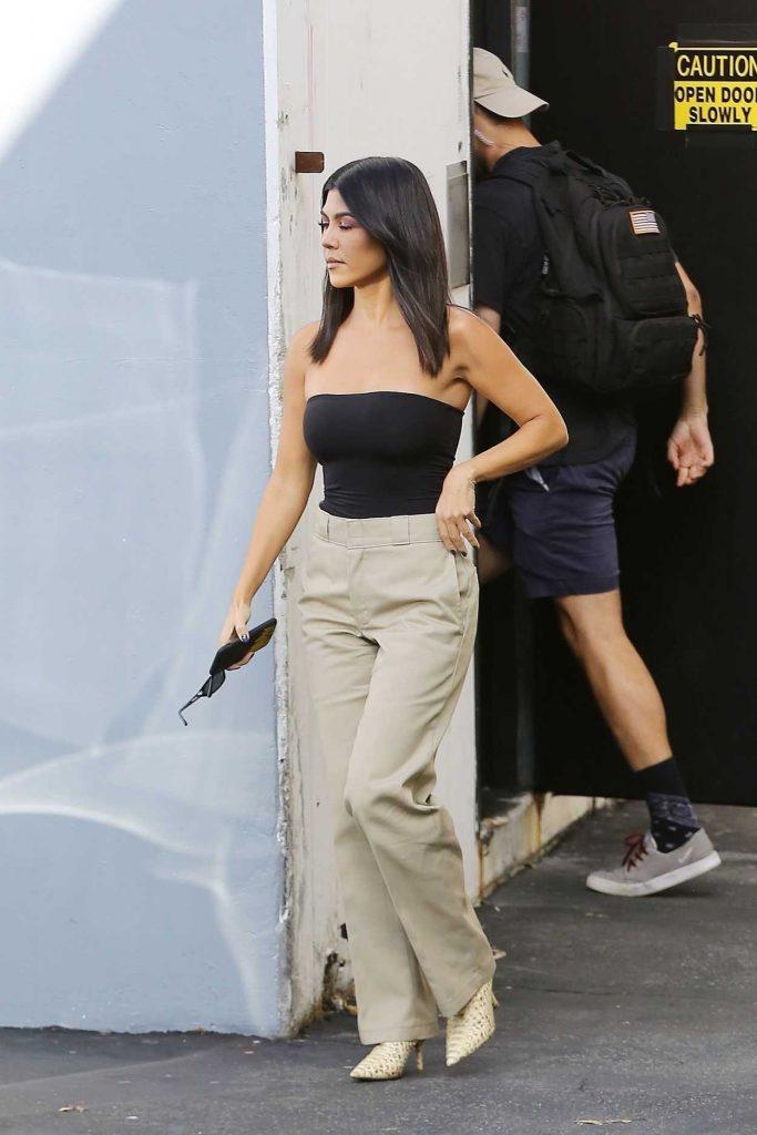 Kourtney Kardashian in a Black Top