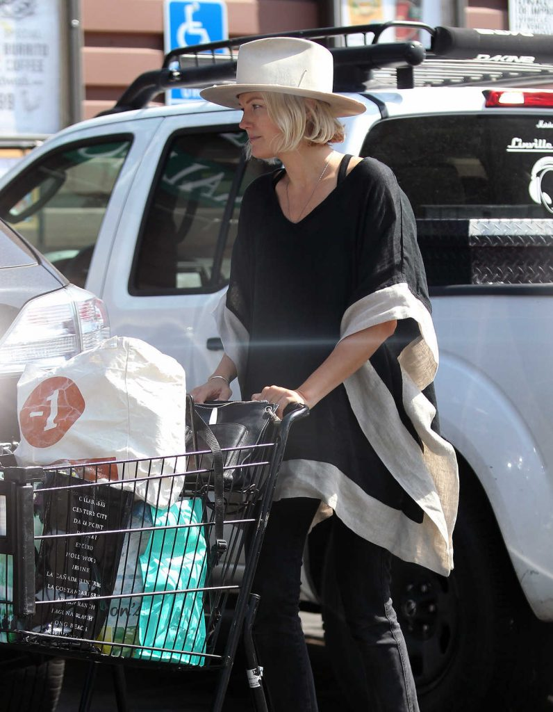 Malin Akerman in a White Hat