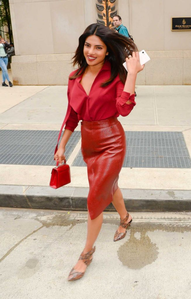 Priyanka Chopra in a Red Blouse