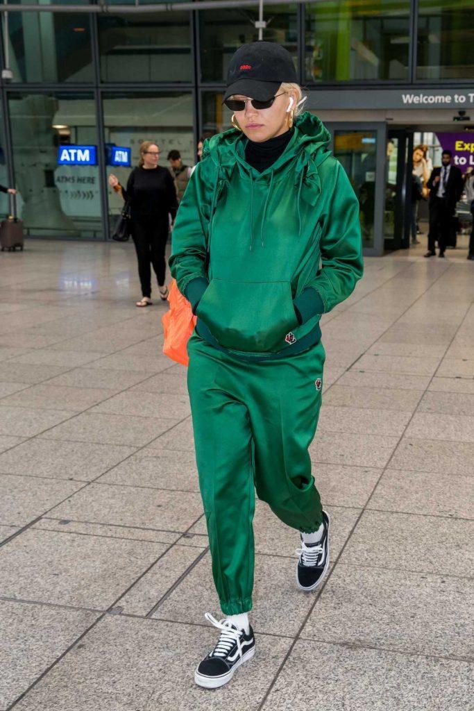 Rita Ora in a Green Track Suit