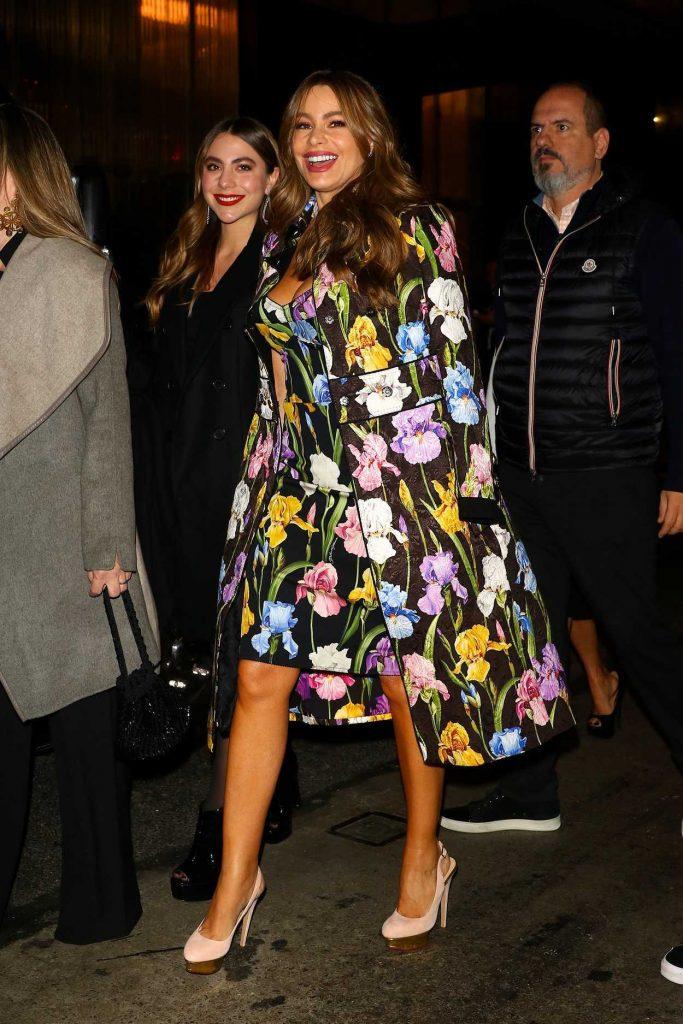 Sofia Vergara in a Floral Dress
