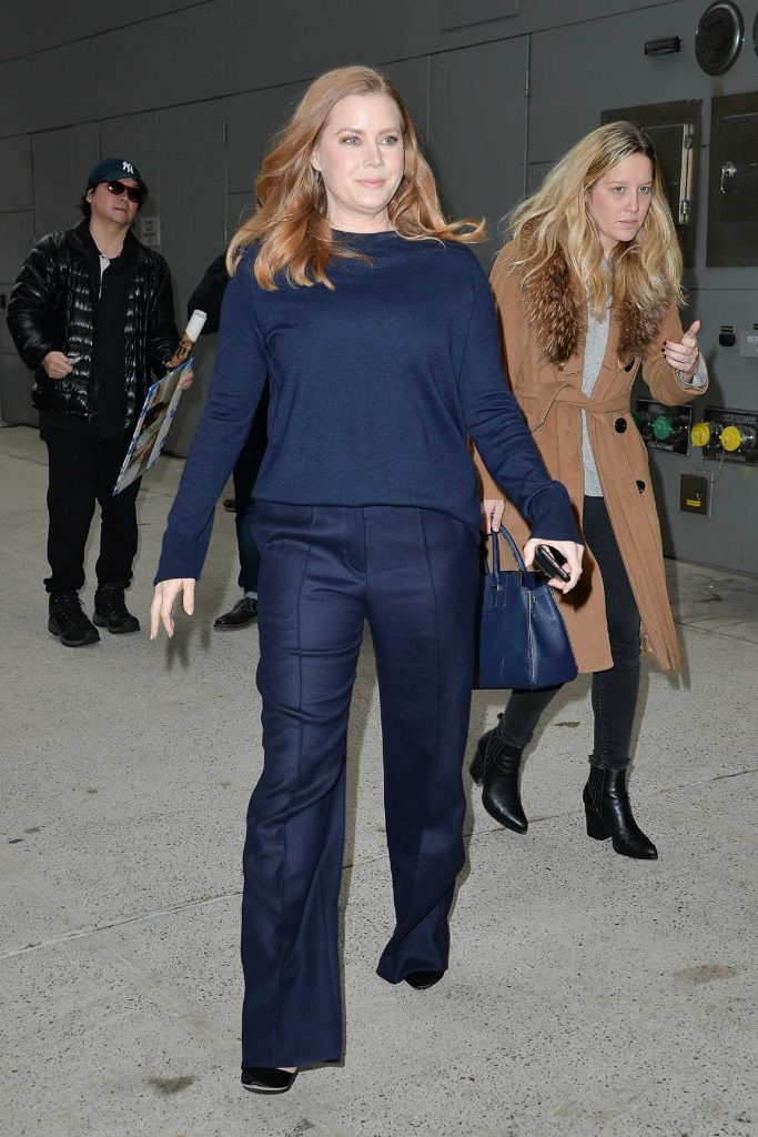 Amy Adams in a Dark Blue Trousers