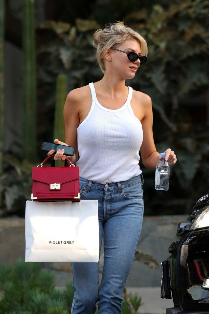 Charlotte McKinney in a White Tank Top