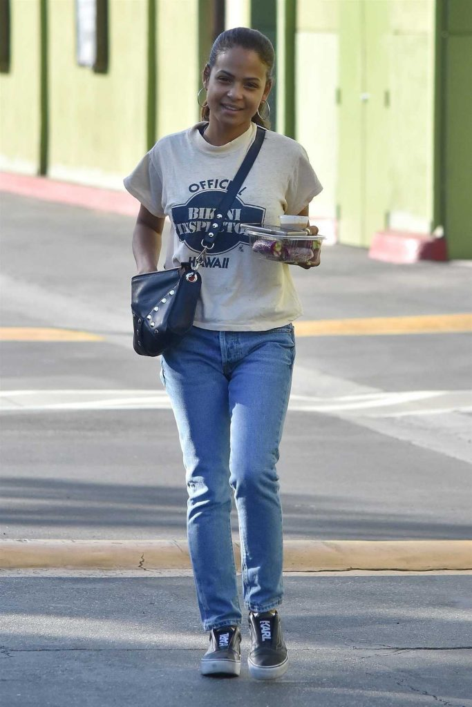 Christina Milian in a Blue Jeans