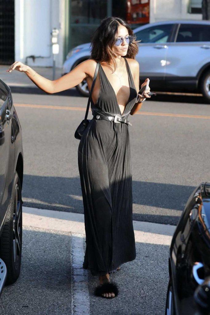 Eiza Gonzalez in a Black Dress