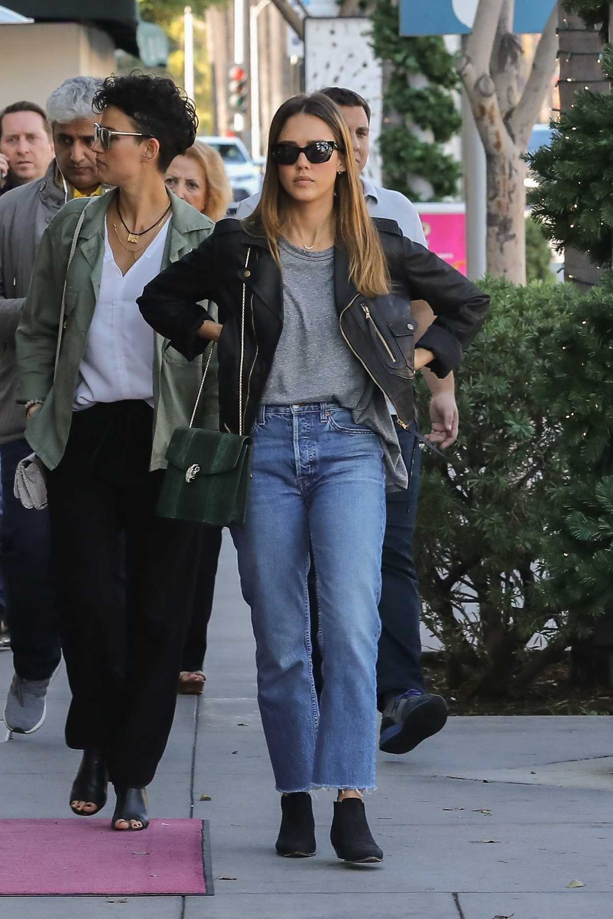 Jessica Alba Goes to Lunch at Gratitude Cafe in Beverly ...