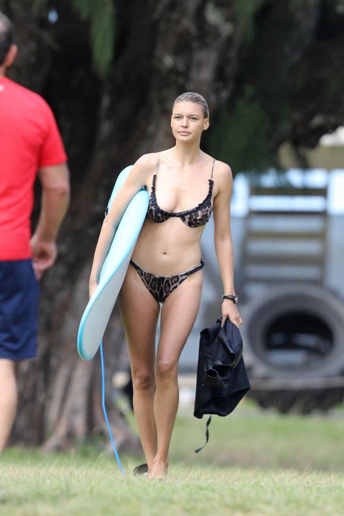Kelly Rohrbach in a Leopard Print Bikini