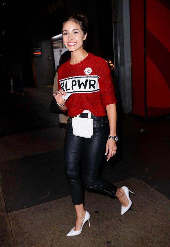 Olivia Culpo in a Red Sweater