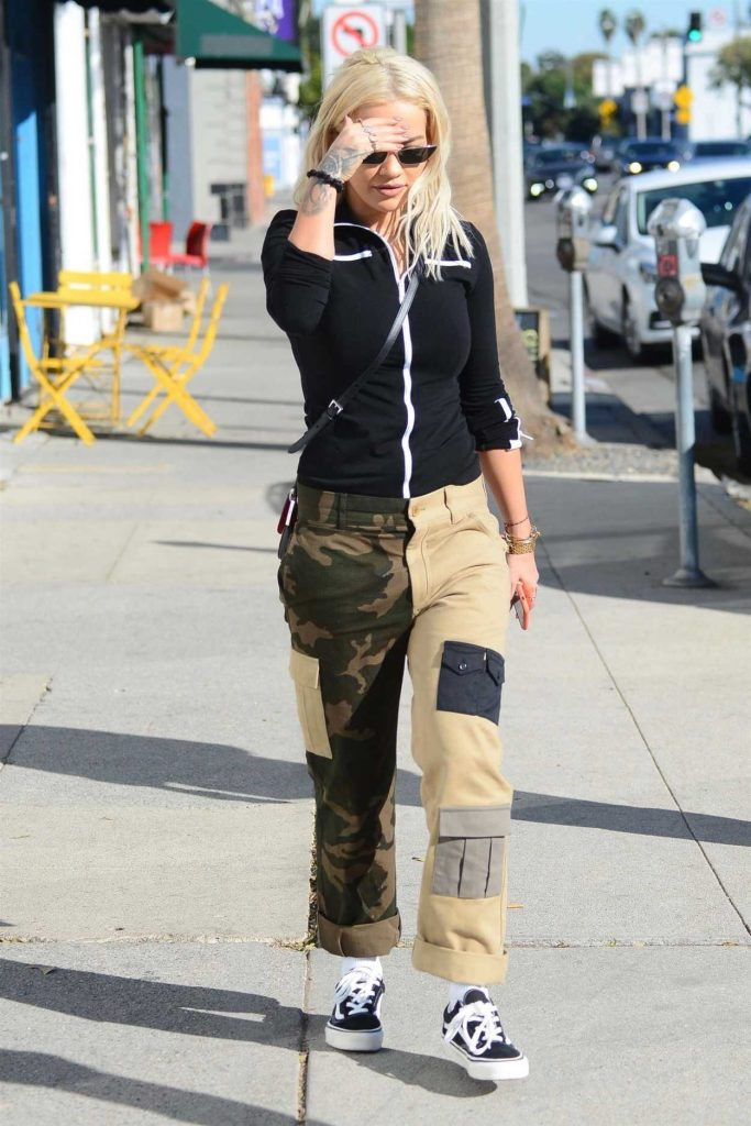 Rita Ora in a Camo Pants