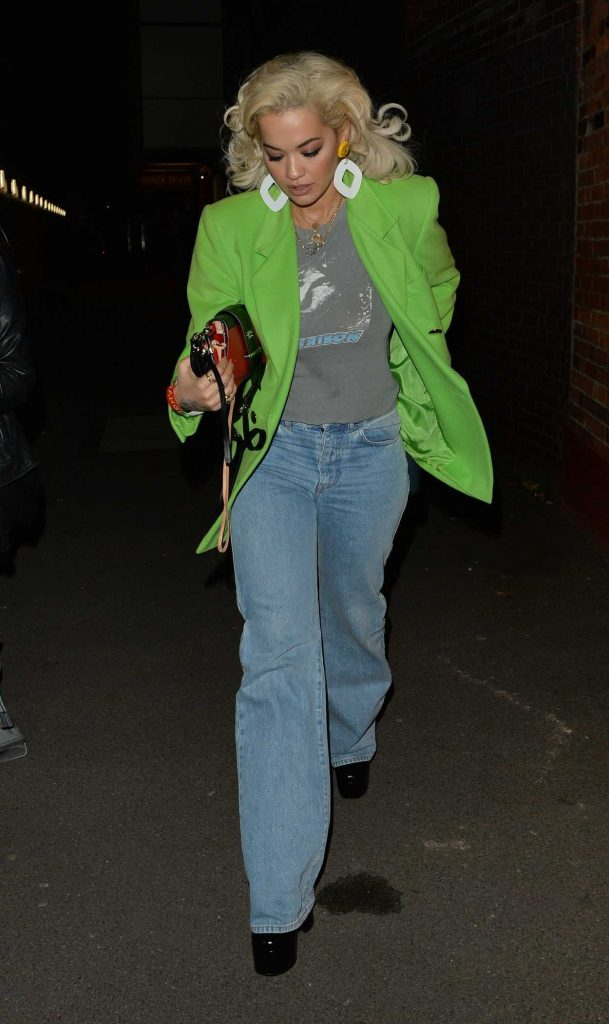Rita Ora in a Green Blazer