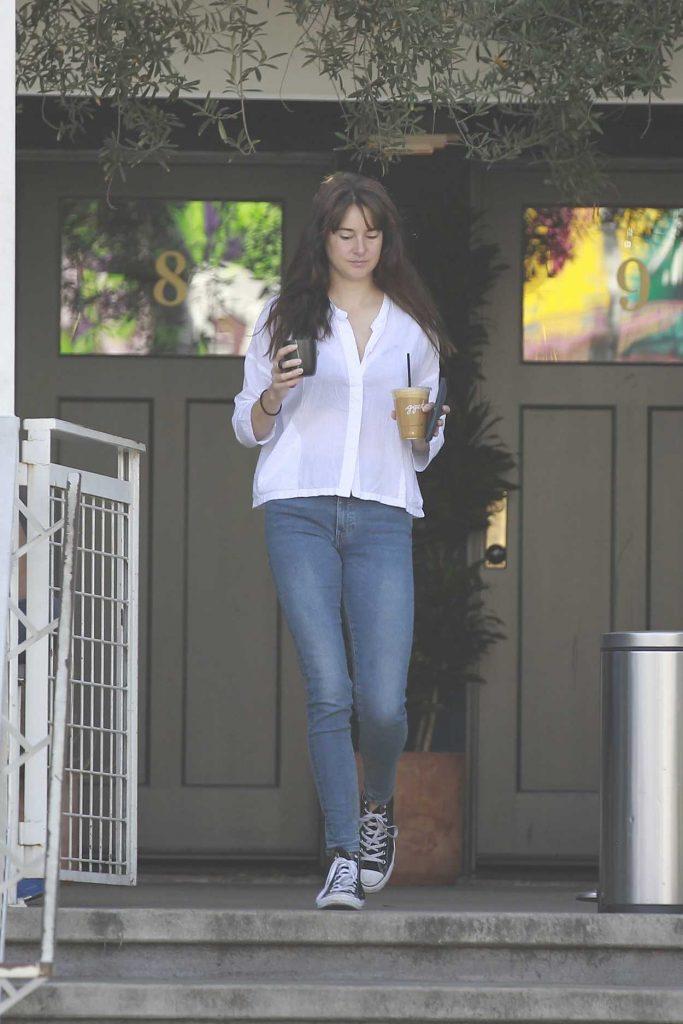 Shailene Woodley in a White Blouse
