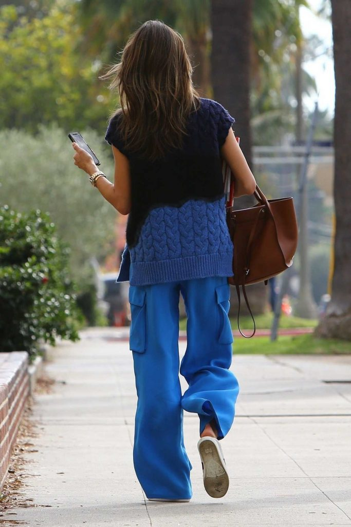 Alessandra Ambrosio in a Blue Pants